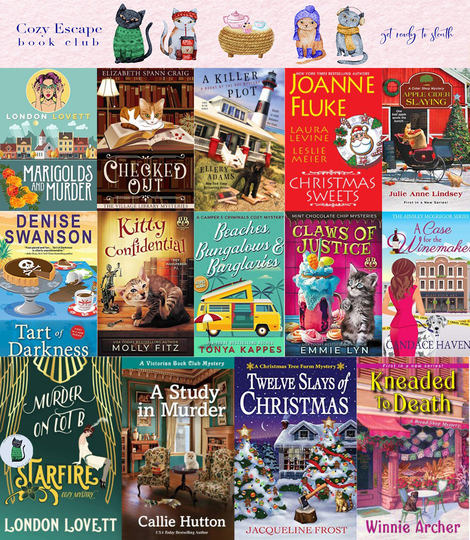 01 Cozy Mystery Book Collage
