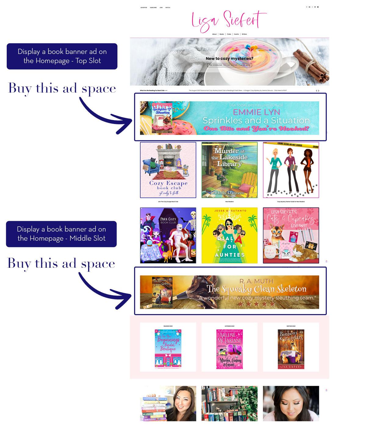 100 Advertise on Lisa Siefert Homepage