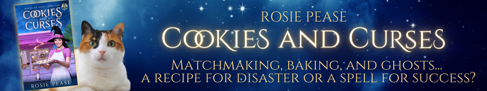 Cookies-and-Curses-Rosie Pease Paranormal Cozy Mystery